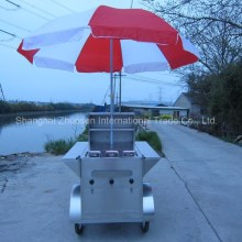 Outdoor Mobile CE Approved Gas Chicken Charcoal Rotisserie with Wheels ZS-HT100 A