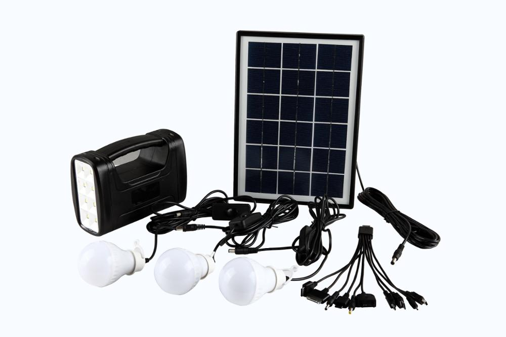 2017 high quality multifunctional home solar lighting system with high efficiency solar panel