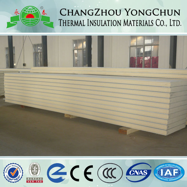 High Quality Polyurethane Sandwich Panels For Roof, Wall And Cold Storage