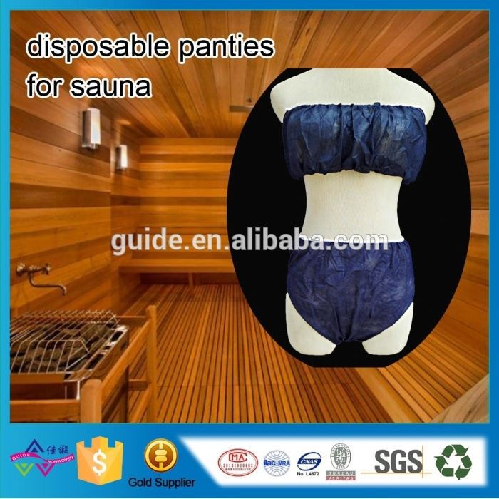 Ladies Sexy Inner Wear Underwear Lingerie Foshan Factory Nonwoven Panty For Sauna House