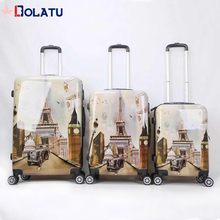 cheap customized unique abs pc travel luggage trolley luggage bag suitcase sets