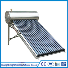 2017 New food grade Hotel Water Heating Solar System nonpressure all stainless steel solar water heater
