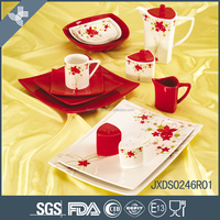 Porcelain square germany porcelain dinnerware sets wholesale