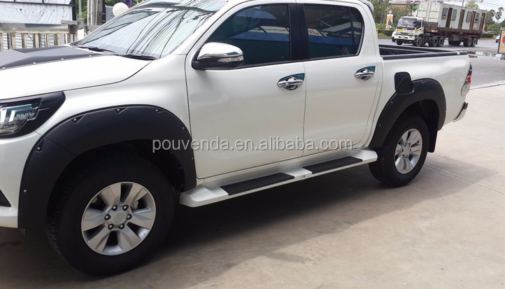 wheel trims fender flare for toyota hilux revo 2015 with screw type