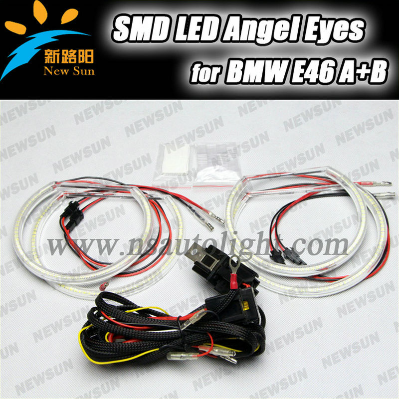 E46 NON PROJECTOR SMD LED Angel Eyes for BMW E46 Halo Rings Kit Xenon White