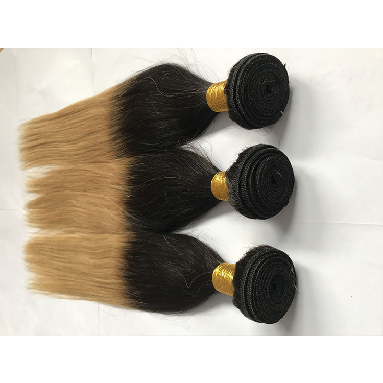 <strong>Trade</strong> Assurance two tone human hair bundles straight 16 18 20 inch weave