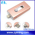 Zyiming usb drive factory selling 16/32/64/128gb otg USB3.0 flash memory usb for iphone
