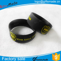 custom fashional wide embossed rubber slap bracelet,rubber wristbands canada
