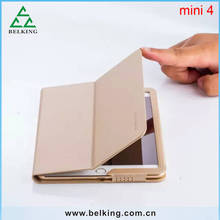 Top Quality Folding Genuine Tablet Case For iPad Mini 4 Leather Case
