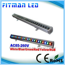 2014 ultrathin linear led wall washer lights, led strip wall washer lights rgb 24W