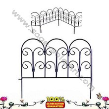 Classic Decorative Steel Landscape Border Fence Section