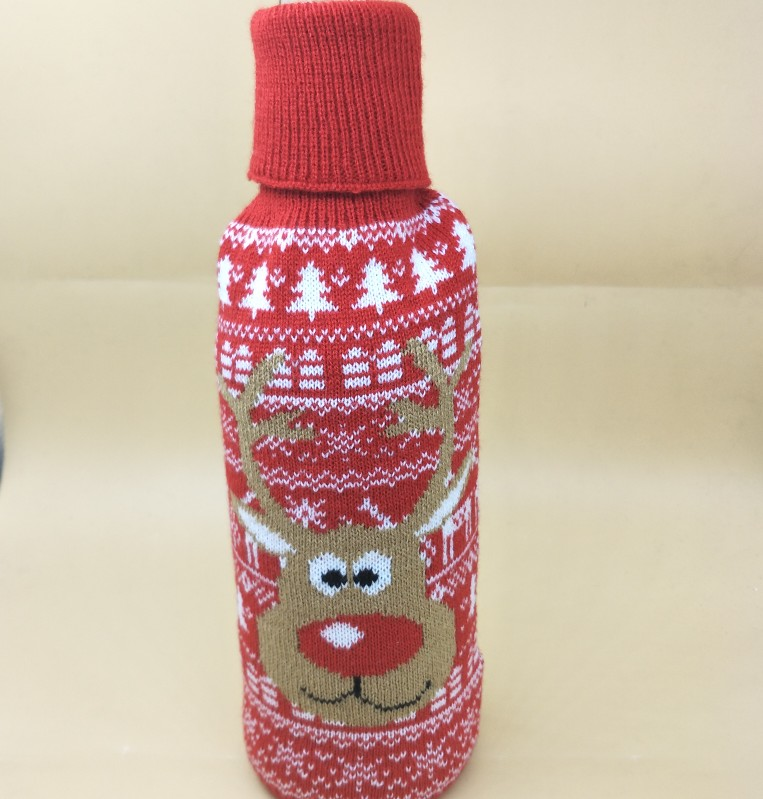 2018 Knit Ugly Sweater Wine Bottle Covers Christmas Decoration Beer Bottle covers