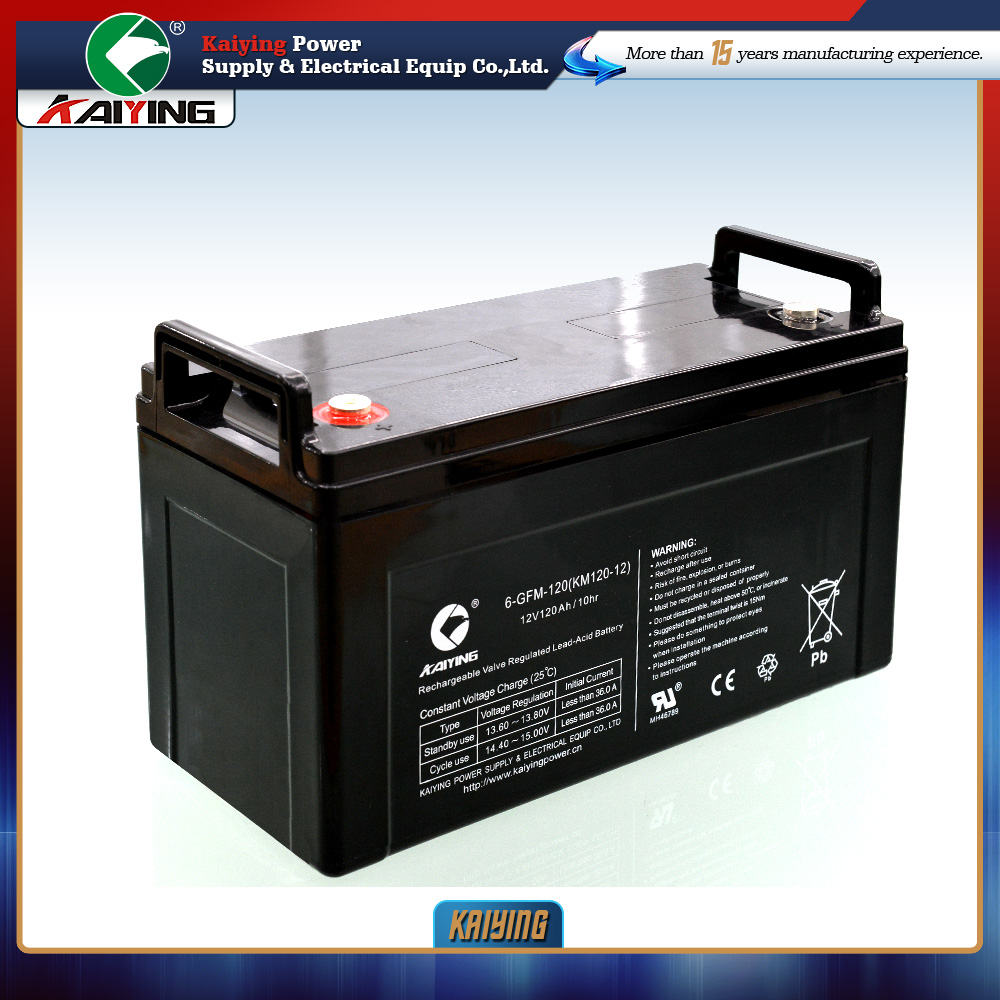12 volta battery 120ah High quality full certification seald lead acid battery