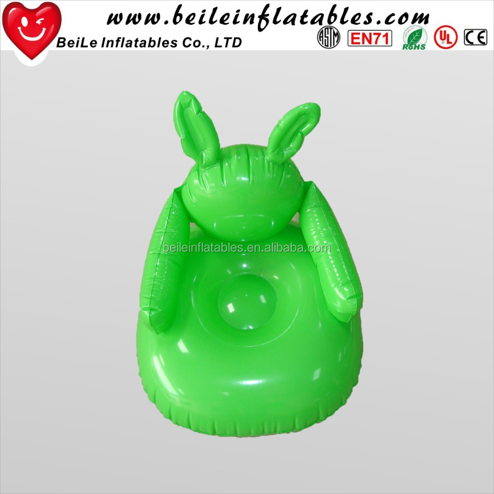 Inflatable kids cheap corner chair cartoon small air corner chair