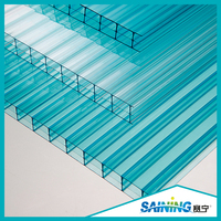 virgin material polycarbonate greenhouse hollow sheet plastic corrugated roofing panels