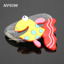 Cartoon Cute Goldfish Shaped Soft Rubber Injection Molding Promotional PVC Magnet For Fridge