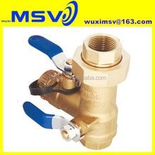 "Brass Tankless Water Heater Isolation Valve Model:Q152, 3/4"" ,ISO9001:2000,NSF/ANSI372,CE,EN331"