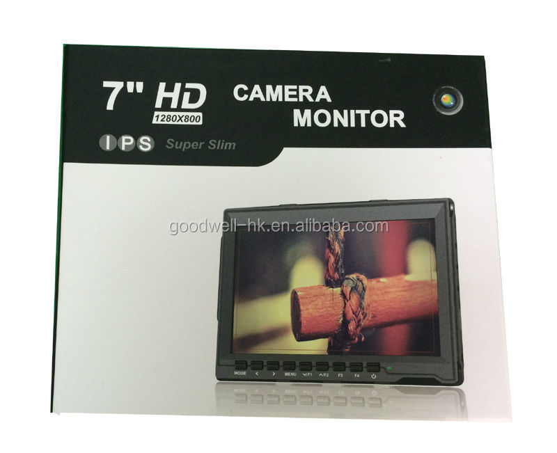 17 mm Slim Design 7 Inch IPS 1280x 800 LCD Monitor with HDMI AV Input