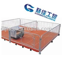 Feed crate for piglet with gavalized metal