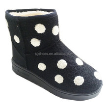 2015 girls white dot new arrive cute snow Boots in winter