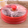 BIG ROUND SHAPE PLASTIC FOOD TRAY WITH LID