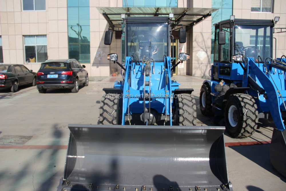 ZLY916A 1.2 tons small front end loader has a all-round view cab