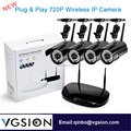 High Quality 4CH WIFI NVR Kits Small CCTV Kits 4Pcs HD 720P Wireless Home Camera
