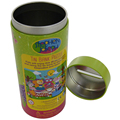 cute round saving money tin can for kids