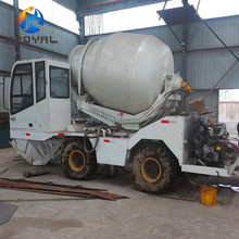 High Efficiency 3m3 Automatic Mobile Self Loading Concrete Mixer Trucks for Sale