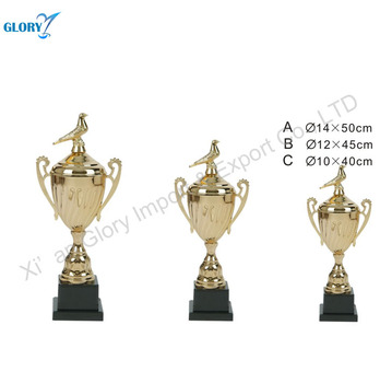 High Quality Unique Gold Name Plated Trophy Cup Of Bird Cover
