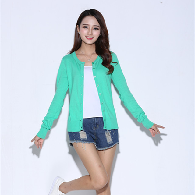 High quality Amazon hot selling same basic knitwear design various colors wholesale in-stock women sweater cardigan