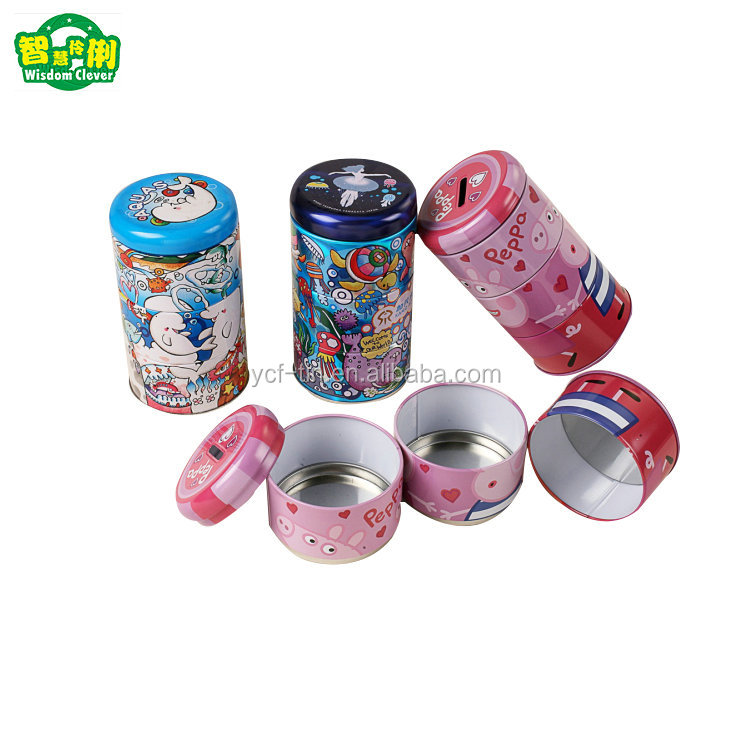 New Design Food Grade Three Layers Round Metal Cookie Tins