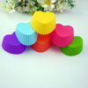 FDA certificate heart shaped silicone cupcake liners for wholesale