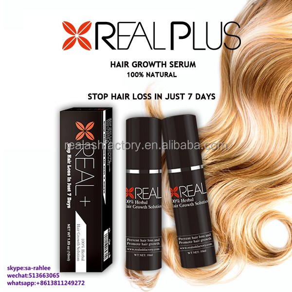 No hormones high quality REAL PLUS hair growth solution for baldness