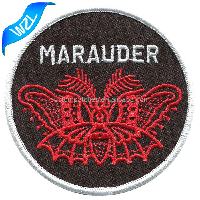 Wholesale Red Butterfly bag logo patch Marauder heat press patches