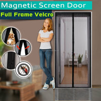 Amazon Hot Sell Magnetic Fly Soft Screen Door With Full Frame Velcro