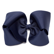 Double Stacked Basic 4-inch Solid Color Hair Bow
