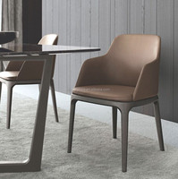 Modern italy fabric grace arm dining chair