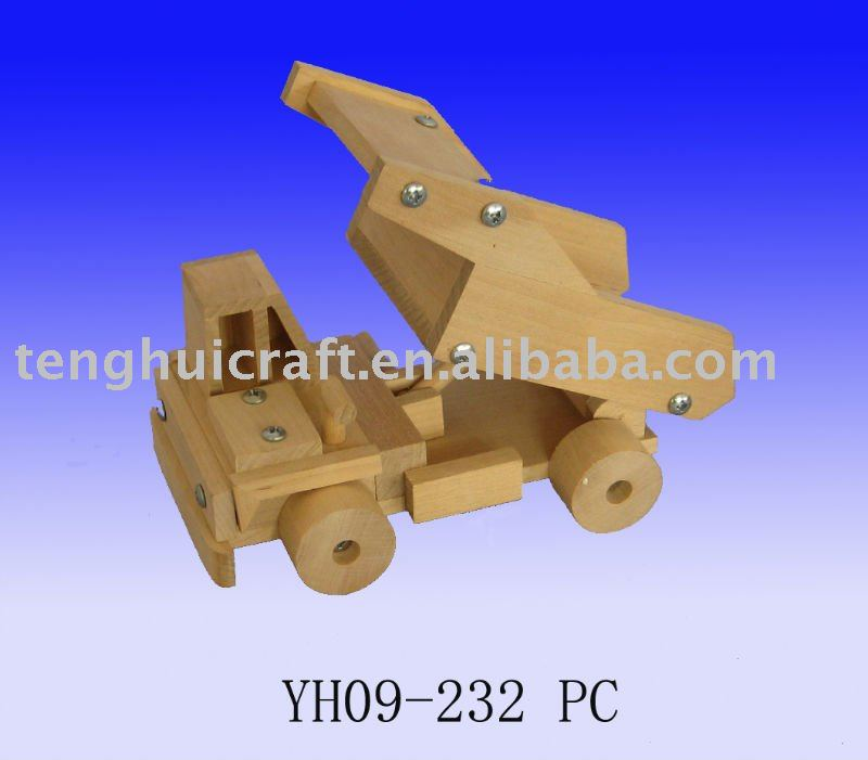 wooden toy skip lorry