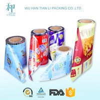 custom logo printing customized colorfull vivid printing laminated heat sealable pet roll film
