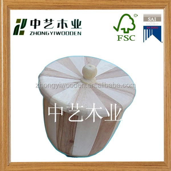 2015 year factory FSC new fasion wooden bucket with lids for sale