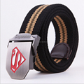 CAV4 Fashion Unisex Mens Womens Cotton Canvas Fabric Metal Buckle Woven Belts