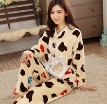 Lovely design beautiful printed flannel nighty for girls sexy homewear