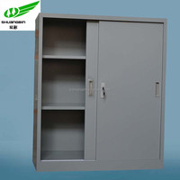 Sliding door half high metal folding cupboard