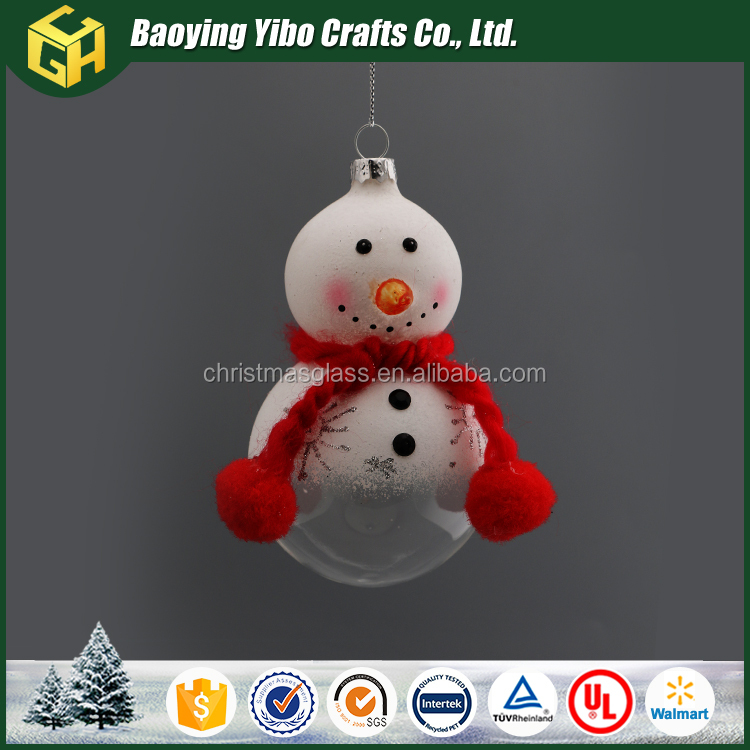 wholesale glass snowman for christmas decoration