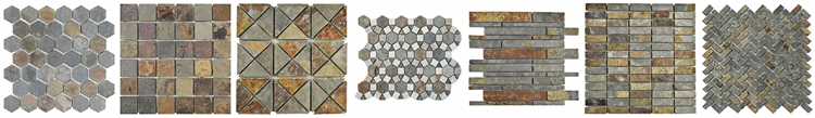 Decorstone24 Sunflower Design Natural Stone Slate Backsplash Tiles For Kitchen