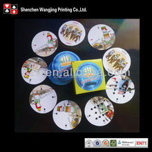 Mini Poker Cards , Circular Shape Cards , Custom Shape Cards