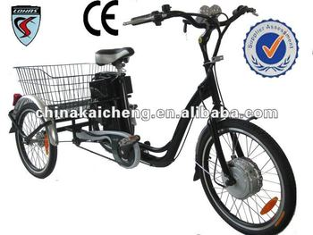 Battery powered tricycle with pedals/CE Certification