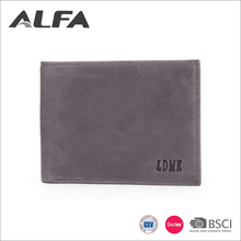 Alfa Wenzhou Factory Oem Private Label Card Holder Mens Genuine Leather Wallet