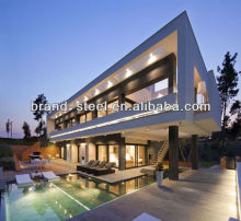 Light steel frame villa prefabricated luxury villa